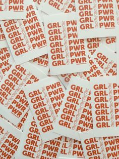 "- Girl Power Sticker - 2"" x 3"" - Matte finish - 100% of the Girl Power sticker proceeds donated to Planned Parenthood"