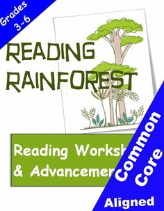 Reading Rainforest reading advancement program. From Betsy Weigle at Classroom Caboodle. Common Core aligned: Reading and writing.