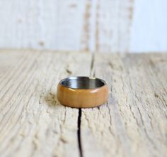 This unisex ring composed natural pear wood and stainless steel.  All the steps are handmade by me. A wonderful treat for yourself or a friend!  You can wearing everyday to office or any other occasion.  Size: in all size available!