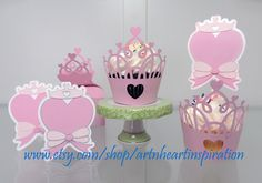 Pink Princess Party Cupcake Wrappers and by artnheartinspiration, $18.00