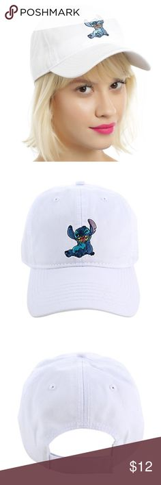 Lilo & stitch white baseball hat Brand new never been worn lilo & stitch white baseball hat Hot Topic Accessories Hats