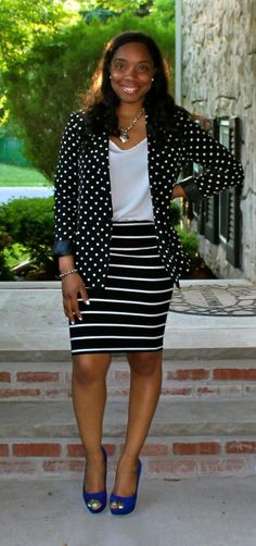 Style & Poise: Mixing Prints Again-Polka Dots & Stripes