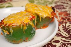Mike remembers his dad making stuffed peppers with a tomato sauce and hamburger meat. This one seems to fit the bill.