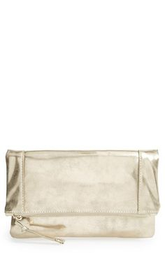 Emperia Tri-Coastal Design 'Sierra' Metallic Foldover Clutch available at #Nordstrom