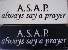 Always Say A Prayer Christian Sign Plaque HP Wood on Etsy, $19.95