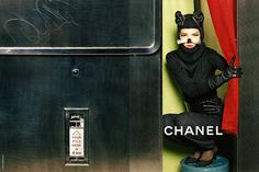 Photographed by Karl Lagerfeld himself for the fall 2011 collection, this add featuring Freja Beha Erichsen dressed up as a cat in a photobooth is simply weird...but the more I look at it the more I like it...