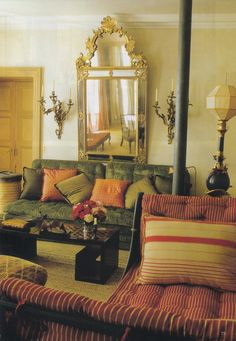Interior Design Verde Visconti, 18th Century house in Paris's 7th Arrondissement. World of Interiors August 2013. Photo credit Jacques Dirand