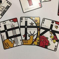 NISHIKIオリジナル!花札にも株札にもなるトランプで、「猪鹿蝶」^^