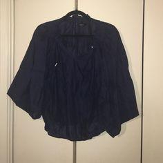 EXPRESS Dark Blue poncho shirt EXPRESS Dark blue poncho shirt Express Tops