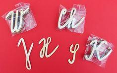Abeceda velká psací písmena set, 5 kusů kompletní abecedy + box