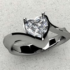 Kennington Jewelers Custom: Heart shaped diamond solitaire.