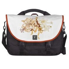 Mongram A with Lily Bouquet Bag For Laptop