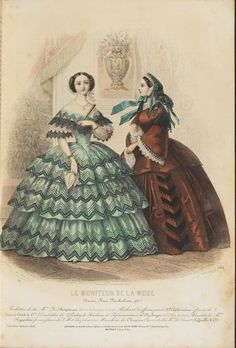 Le Moniteur de la Mode, 1857.   In the Swan's Shadow
