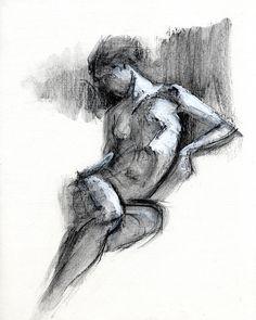 Com art print by chris n rohrbach Human Figure Drawing, Figure Sketching, Life Drawing, Gesture Drawing, Art Sketches, Art Drawings, Drawn Art, Charcoal Art, Art Sketchbook