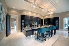 10 Inspiring Modern Kitchen Designs – Modern Home Elegant Kitchens, Luxury Kitchens, Beautiful Kitchens, Contemporary Kitchens, Dream Kitchens, Cocinas Kitchen, Eclectic Kitchen, Luxury Home Decor, Luxury Homes