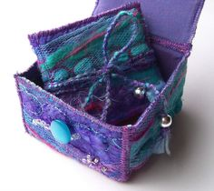 Textile Trinket Box and Mini Book | Flickr - Photo Sharing!