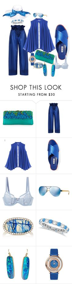 """""""She is so serious"""" by blujay1126 ❤ liked on Polyvore featuring Nancy Gonzalez, STELLA McCARTNEY, WithChic, Miu Miu, Triumph, Tory Burch, Monique Péan, Allurez, Versace and Scala"""