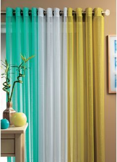 1000 images about draperies on pinterest drapery ideas - Turquoise and yellow curtains ...