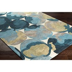 Hand-Tufted Zulia Polyester Rug (8' x 10') (Yellow), Size 8' x 10'