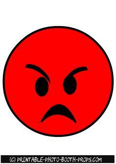 Free Printable Angry Emoji Photo Booth Prop