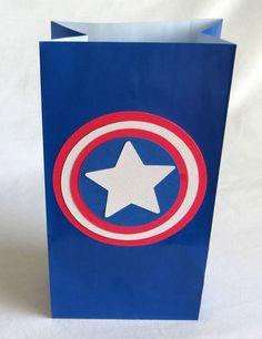 Captain America Party Bags 24 Count Birthday Bags Goodie Bag Superhero Theme | eBay