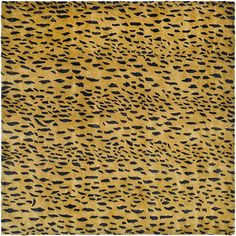 Bring out your wild side with this leopard-print handmade wool rug. This 6-foot square rug features a bold and daring leopard skin print showcased on a plush 1/2-inch New Zealand wool pile with a canvas backing for added durability.