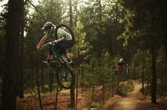 Skye Schillhammer + Justin Bumgarner at Beacon in Spokane, Washington, United States - photo by lushcinema - Pinkbike Freeride Snowboard, Freeride Mtb, Mtb Bike, Cycling Bikes, Bmx, Power To The People, Ride Or Die, Mountain Biking, Trail