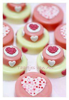 CookieChocs Taartjes van An bruiloft wedding