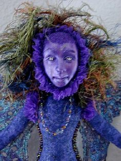 Art Doll-Purple and Lavendar Fairy Spirit Doll-(Made to Order Similar Doll by Rquest). $95.00, via Etsy.