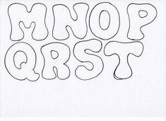 Doodle Alphabet, Alphabet Stencils, Felt Name Banner, Name Banners, Pencil Case Tutorial, Patch Aplique, Handwritten Letters, Felt Patterns, Alphabet And Numbers