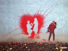 Street Art by Banksy Street Art Banksy, 3d Street Art, Banksy Art, Amazing Street Art, Street Artists, Amazing Art, Bansky, Awesome, Crazy Walls