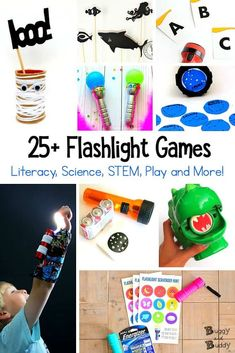 flashlight games and activities for kids - buggy and buddy Summer Activities For Kids, Science For Kids, Science Activities, Classroom Activities, Toddler Activities, Games For Kids, Science Experiments, Stem Science, Science Ideas