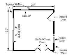 How To Draw A Floor Plan Sliding Door On A Drawing 18 How