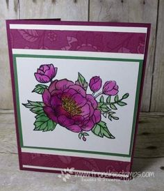 Hello Friends   OH! so many cards so little time..... This card was done back in December or November so the designer paper was the Petals & Paisley and now that is gone but I have the perfect alterna
