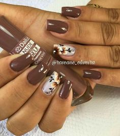 Fall nail art Fall Nail Art Designs, Creative Nail Designs, Toe Nail Designs, Creative Nails, Shellac Nails, Manicure And Pedicure, French Nails, Ongles Beiges, Nagel Bling