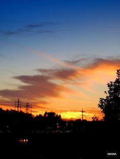 大阪府枚方市に入っても綺麗な夕焼けは続きます。