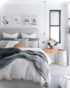 Awesome Deco Chambre Style Scandinave that you must know, You?re in good company if you?re looking for Deco Chambre Style Scandinave Small Master Bedroom, Master Bedroom Design, Cozy Bedroom, Trendy Bedroom, Home Decor Bedroom, Modern Bedroom, Bedroom Ideas, White Bedroom, White Bedding