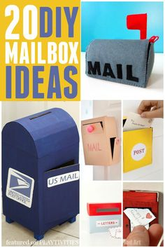 20 Mailbox ideas for kids. Perfect for pretend play and valentine's boxes.