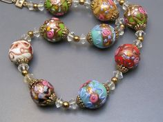 Hey, I found this really awesome Etsy listing at https://www.etsy.com/listing/182214447/vintage-wedding-cake-necklace-murano