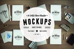 Check out 19 Artist Hero/Header Mockups by RAPPIDLY on Creative Market