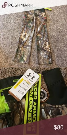 Under Armour NWT camo pants Realtree camo, scent control, size 8 Under Armour Pants Straight Leg
