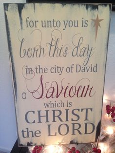 For unto you is born this day in the city of David a by invinyl