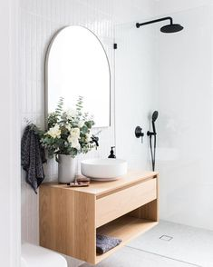 Modern Bathroom Decor Ideas Match With Your Home Design Laundry In Bathroom, Bathroom Renos, Bathroom Renovations, Remodel Bathroom, Bathroom Furniture, Washroom, Bathroom Ideas, White Bathroom, Bathroom Vanities