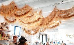 Modern, one-of-a-kind design installations by Ashley Renuart - 100 Layer Cake Wheat Wedding, Flower Installation, Cafe Interior Design, Look Boho, Boho Diy, Baby Decor, Decoration, Floral Wedding, Flower Arrangements