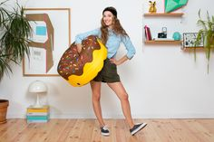 Donut Choco pouf arriving soon at Oikos
