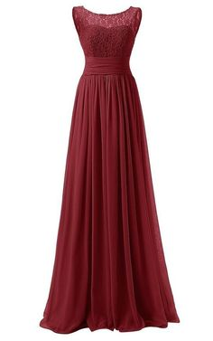 Chiffon Lace Floor Length Prom Dresses Long Party Dresses SP005