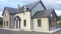 Best house plans ireland story and a half ideas Modern Bungalow Exterior, Bungalow House Design, Dream House Exterior, Dormer House, Dormer Bungalow, House Designs Ireland, House Plans South Africa, L Shaped House, Self Build Houses