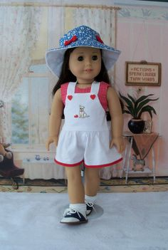 3 Piece Summer Play Clothes for Maryellen or other by Farmcookies
