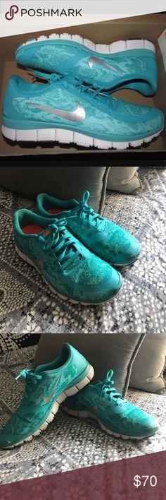 Excellent condition Women's Nike Free 5.0 V4 Barely worn, great running shoes! The shoes run a little small. Nike Shoes Sneakers