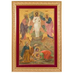 A Large Antique Russian Icon Depicting the Transfiguration of Jesus Christ | 1stdibs.com